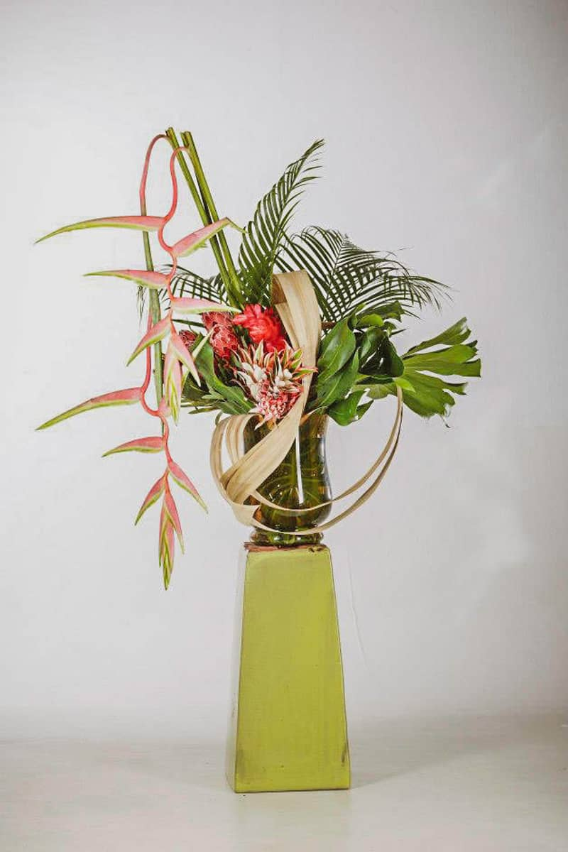 3abcrea-Composition de fleurs exotiques