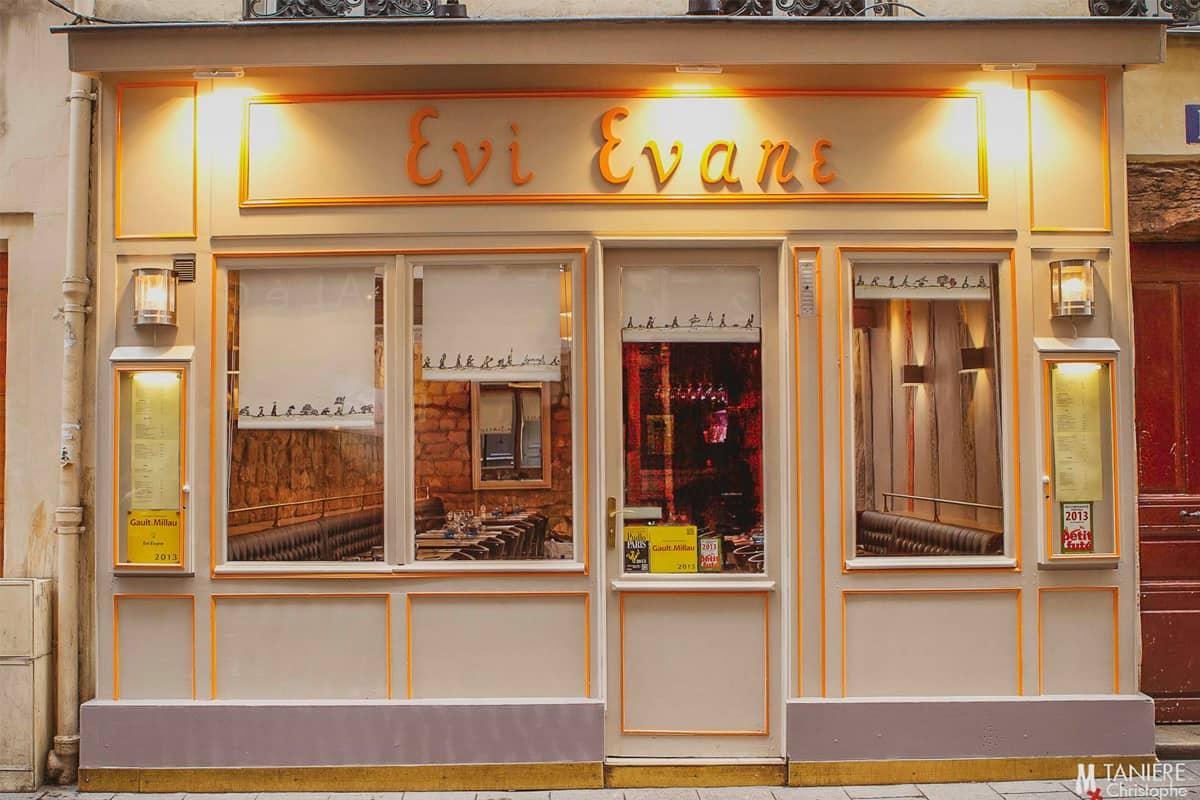 3abcrea-Facade du restaurant Evi Evane