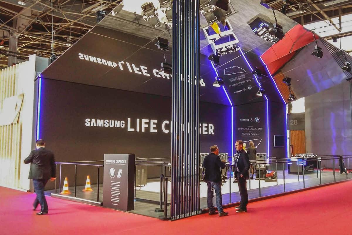 3abcrea-Réalisation d'un stand pour Samsung